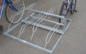 Double Sided Free standing bike rack