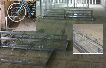 free standing cycle racks