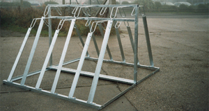 Double Sided Semi Vertical Cycle Rack