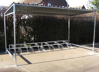 Traditional-Cycle-Bike-Bicycle-Shelter-Steel-Cladding