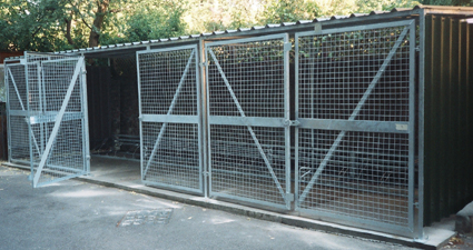 gated shelters and compounds