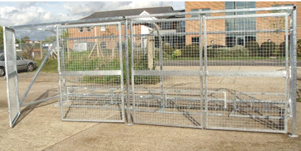 Security Bike Shelter - A secure bicycle shelter, curved back frame clear cladding mesh gates