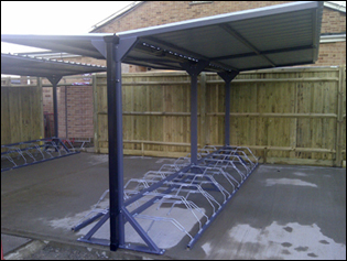 Y frame Bike Shelter