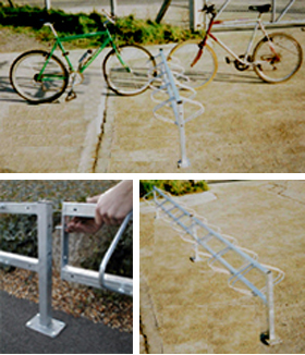Double sided cycle bike bicycle racks